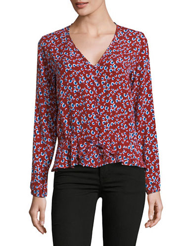 Rails Beaux Floral-Print Blouse-RED FLORAL-Large