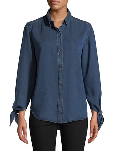 Rails Bethany Denim Button-Down Shirt-BLUE-X-Small