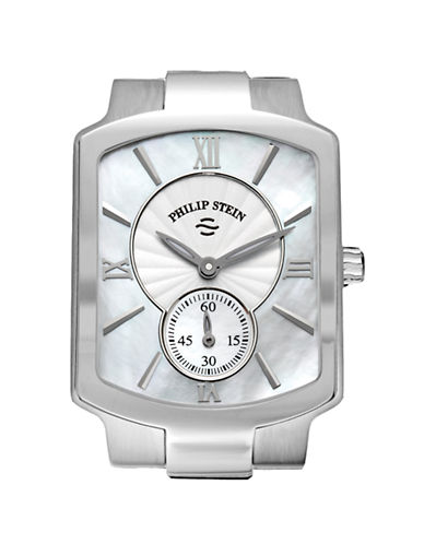 Philip Stein Small Classic Watch Head MOP Dial-SILVER-One Size