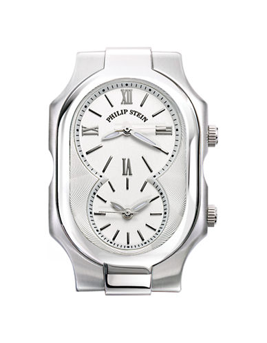 Philip Stein Large Signature Watch Head White Dial-SILVER-One Size 86458492_SILVER_One Size
