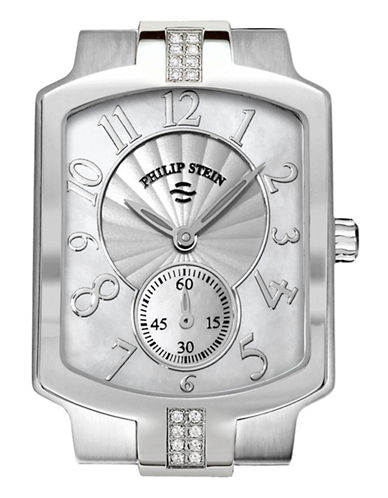 Philip Stein Small Classic Sport Diamond Watch Head MOP Dial-SILVER-One Size