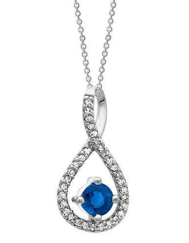 Fine Jewellery Silver Sapphire and Diamond Infinity-SAPPHIRE-One Size