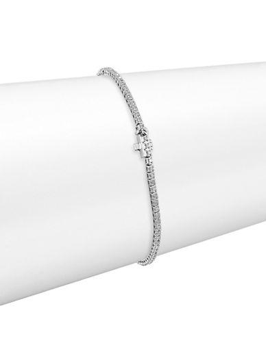 Fine Jewellery 14K White Gold Tennis Bracelet with 0.75 Total Carat Weight Diamonds-DIAMOND-One Size