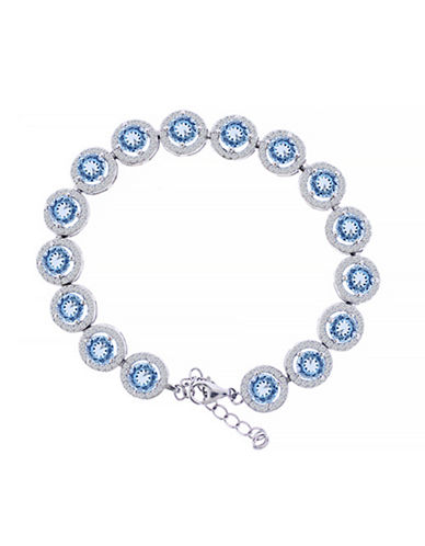 Fine Jewellery Topaz and Sterling Silver Circle Bracelet-BLUE TOPAZ-One Size