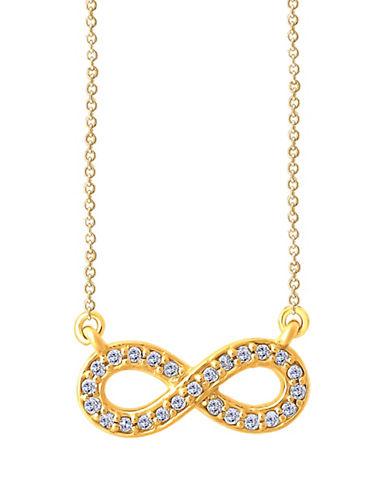 Fine Jewellery 14K Yellow Gold and 0.12TCW Diamond Infinity Pendant Necklace-DIAMOND-One Size