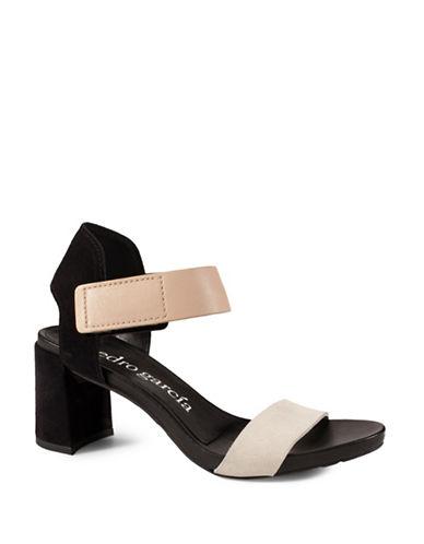 Pedro Garcia Willa City Leather Sandals-BLACK-EUR 37.5/US 7.5