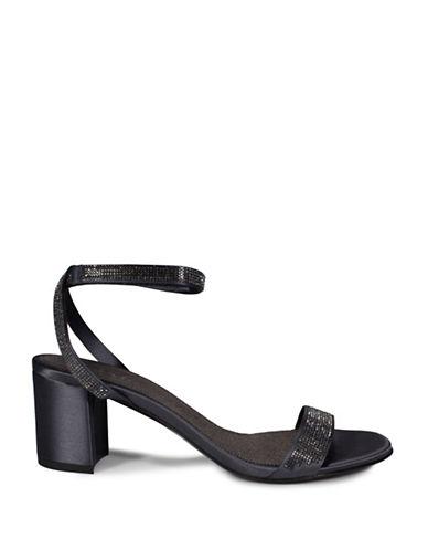 Pedro Garcia Sparkle Pave Ankle Strap Sandals-GREY-EUR 37.5/US 7.5