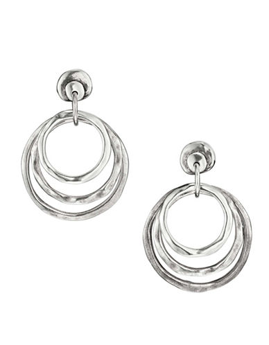 Uno De 50 Sterling Silver Hipster Earrings-SILVER-One Size