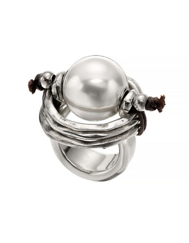 Uno De 50 A Pearl Of Wisdom Ring-SILVER-7
