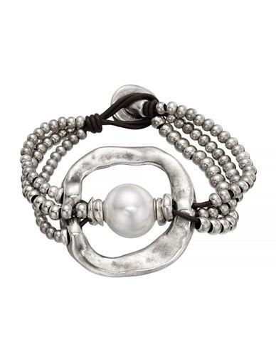 Uno De 50 A Pearl Of Wisdom Bracelet-SILVER-One Size