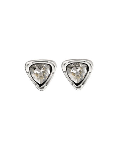 Uno De 50 Trilliant Crystal Stud Earrings-BEIGE-One Size
