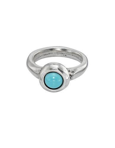 Uno De 50 Ego Round Stone Ring-TURQUOISE-6