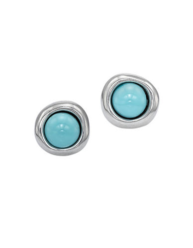 Uno De 50 Ego Contrast Glass Earrings-BLUE-One Size