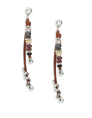 Uno De 50 Liana Beaded Climber Earrings-BROWN-One Size