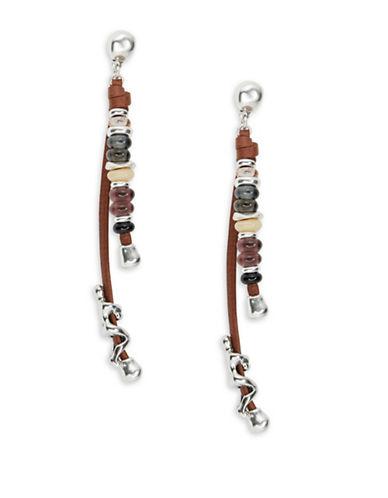 Uno De 50 Liana Beaded Climber Earrings-BROWN-One Size