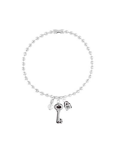 Uno De 50 Cambiaron La Cerradura Shell Pearl Accent Necklace-SILVER-One Size
