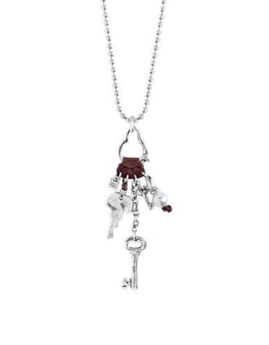 Uno De 50 Man Ojito Shell Pearl and Sterling Silver Necklace-PEARL-One Size