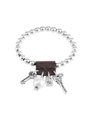 Uno De 50 Man Ojo Bead Bracelet-SILVER-One Size