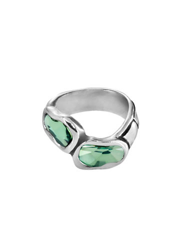 Uno De 50 Crystal Classic Deep Eyes Statement Ring-GREEN-7