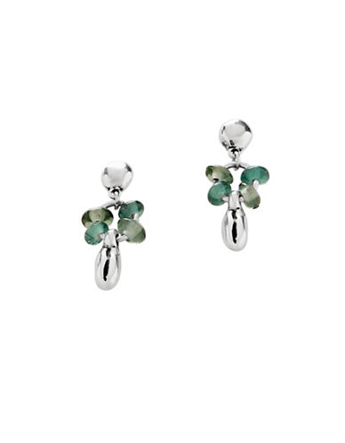 Uno De 50 Roots Silver Earrings-GREEN-One Size