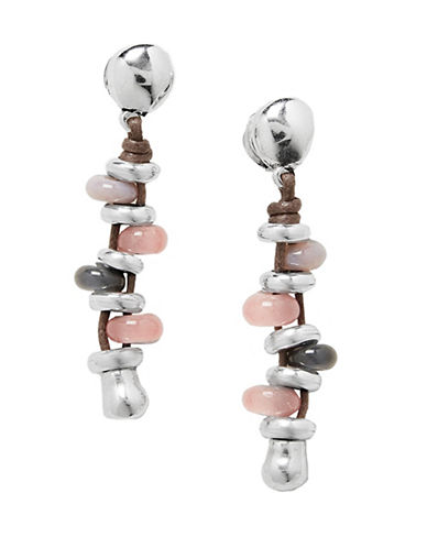 Uno De 50 Adventure Crystal Earrings-PINK-One Size