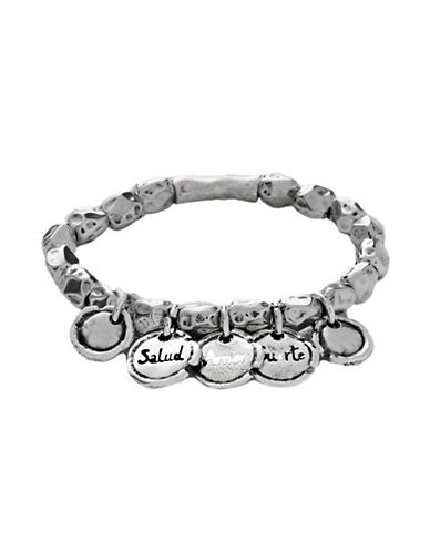 Uno De 50 Wax Seal Silver Bracelet-SILVER-Medium