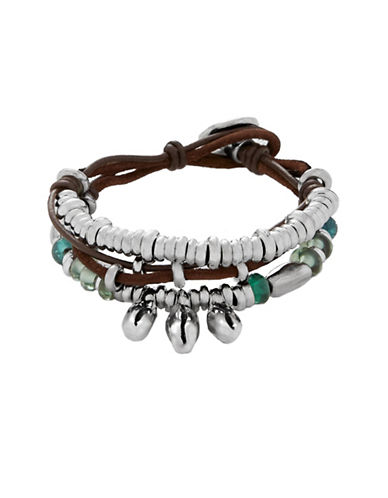 Uno De 50 Multi -Layer Roots Bracelet-GREEN-One Size