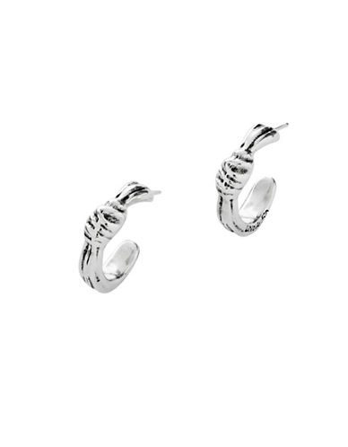 Uno De 50 Silver Hoop Earrings-SILVER-One Size