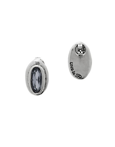 Uno De 50 The Brave Crystal and Stud Earrings-GREY-One Size