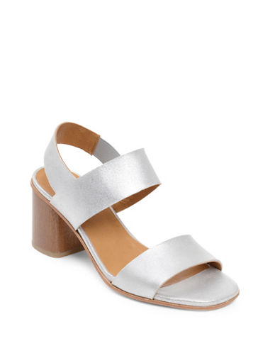 Coclico Bask City Metallic Block Heel Sandals-SILVER-EUR 40/US 10