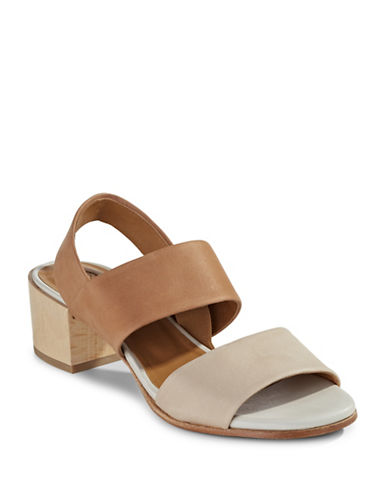 Coclico Kent Petal Leather Block-Heel Sandals-BEIGE-EUR 38/US 8