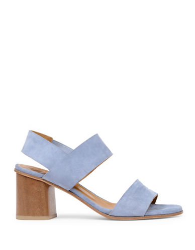 Coclico Bask City Suede Block Heel Sandals-BLUE-EUR 38/US 8