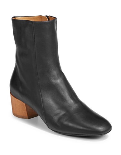 Coclico Cally Leather Ankle Boots-BLACK-EUR 38.5/US 8.5