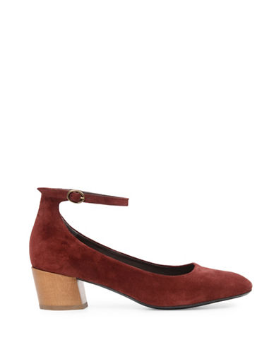 Coclico Maryjane Creed Leather Pumps-RED-EUR 39/US 9
