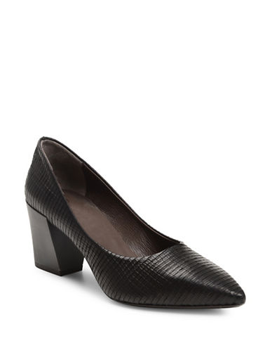 Coclico Jul Embossed Leather Pumps-BLACK-EUR 37/US 7