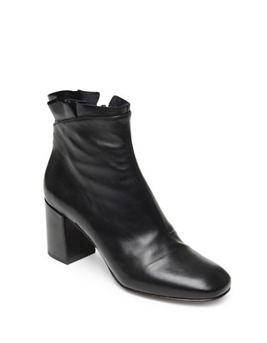 Coclico Liseli-K Pleated-Top Leather Booties-BLACK-EUR 40/US 10