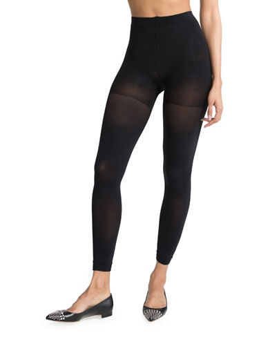 Spanx Luxe Leg Footless Tights-BLACK-X-Large 88497081_BLACK_X-Large