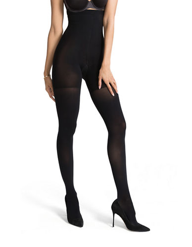 Spanx High-Waisted Luxe Leg Tights-BLACK-C