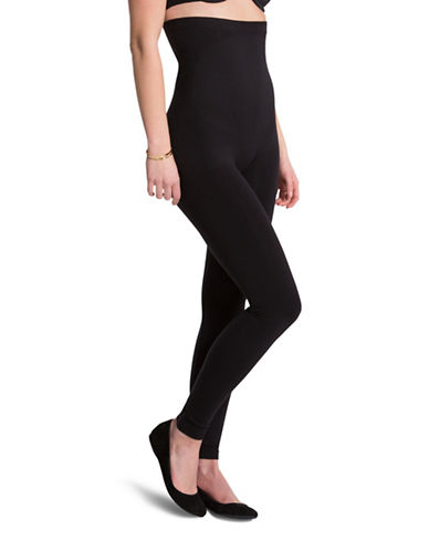 Assets Red Hot Label By Spanx High Waist Shaping Leggings-BLACK-Small