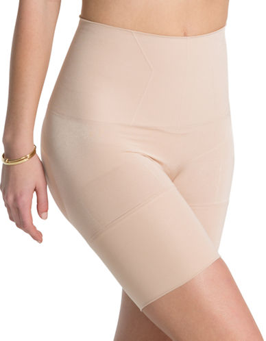 Assets Red Hot Label By Spanx Flat-Out Flawless Mid-Thigh Shaper-SOFT NUDE-Large