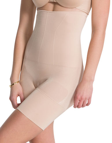 Assets Red Hot Label By Spanx Flat-Out Flawless High-Waist, Mid-Thigh Shaper-SOFT NUDE-X-Large