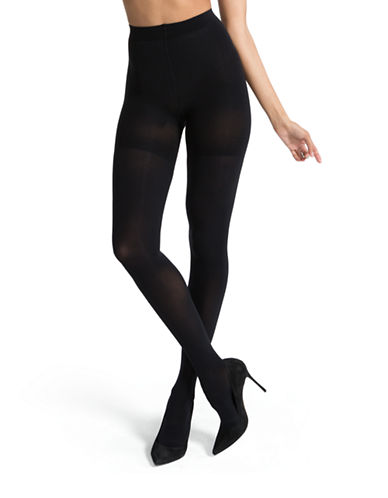 Spanx Luxe Leg Opaque Tights-BLACK-D