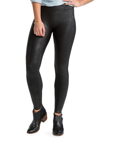 Spanx Faux Leather Leggings-BLACK-Large