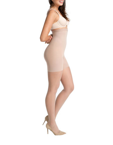 Spanx Luxe Leg High-Waisted Sheer Pantyhose-NUDE 1-Small plus size,  plus size fashion plus size appare