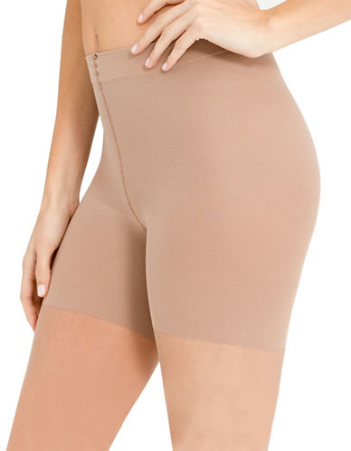 Spanx Luxe Leg High-Waisted Sheer Pantyhose-BEIGE-D