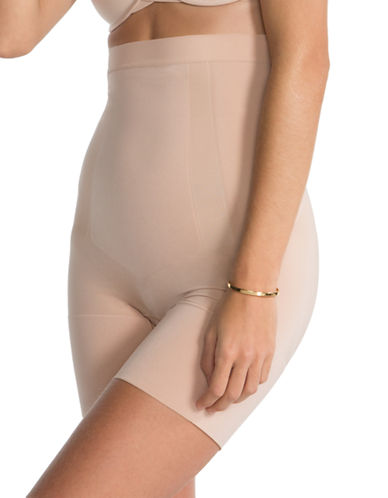 Spanx OnCore High-Waisted Mid-Thigh Shaper-NUDE-Small