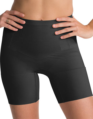 Spanx OnCore Mid-Thigh Shaper-BLACK-Medium