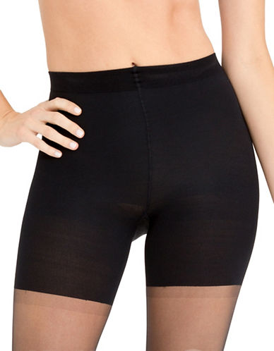 Spanx Luxe Leg Sheer Tights-BLACK-Small plus size,  plus size fashion plus size appare