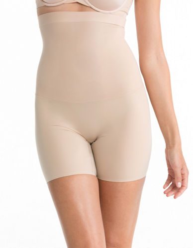 Spanx Shape My Day High Waisted Mid Thigh-NATURAL-Large plus size,  plus size fashion plus size appare