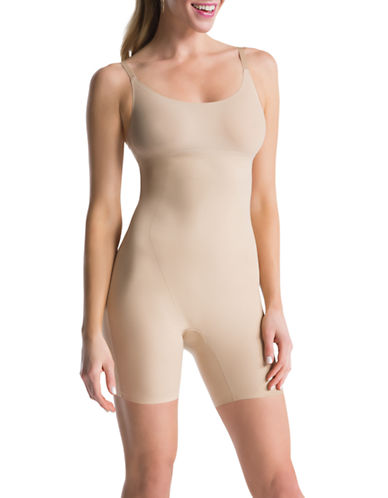 Assets Red Hot Label By Spanx Mid Thigh Body Shaper-VERY BARE-Large